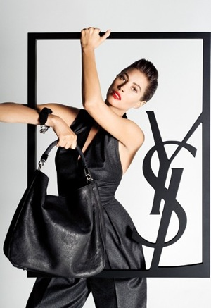 Photo of Christy Turlington in Yves Saint Laurent 2009 Fall Ad Campaign