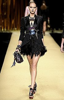 The Look For Less: Louis Vuitton Feathered Skirt