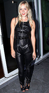 Chloe Sevigny Wears Black Leather Proenza Schouler Jumpsuit