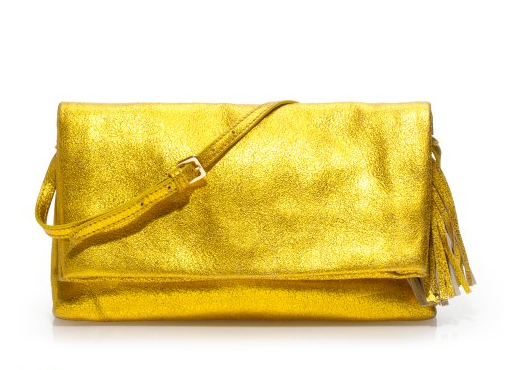 This Metallic Lexi Clutch, ($225) is amazing — I love the color!