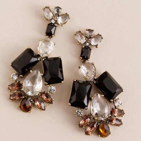 I can pair these Jeweled Garland Earrings, ($80) with a tee during the day and cute LBD at night.
