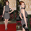 Actress Evan Rachel Wood in Polka-Dot Gucci Dress at Hollywood Foreign Press Association&#039;s Annual Luncheon 2009