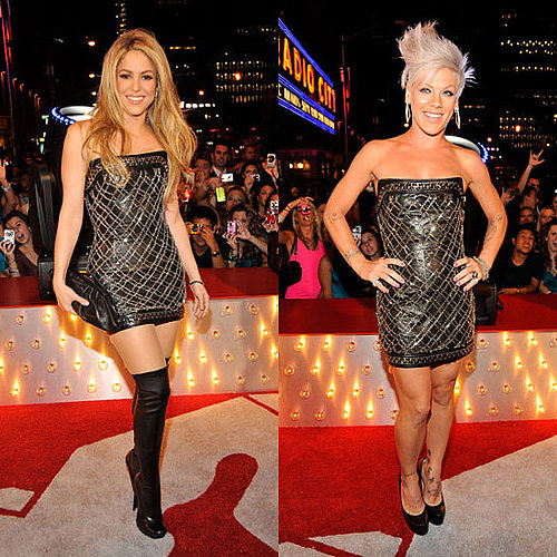 Pink and Shakira in the Same Dress at the MTV VMAs 2009-09-13 18:00:24