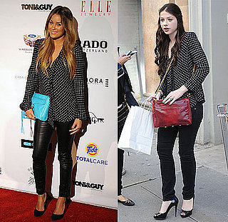 Lauren Conrad and Michelle Trachtenberg Wear the Same Polka-Dot Blouse at New York Fashion Week