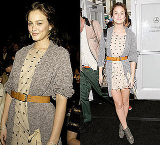 Photo of Leighton Meester in Polka-Dot Dress at New York Fashion Week 2009-09-17 04:00:08