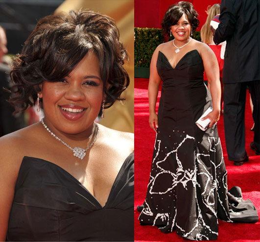 Photo of Chandra Wilson on the Emmy Awards Red Carpet