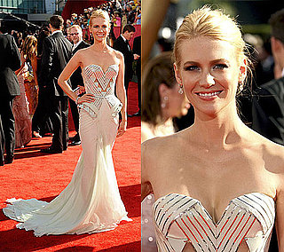 Photo of January Jones on the Emmy Red Carpet