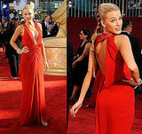 Photos of Blake Lively in Red Versace Gown at 2009 Emmy Awards