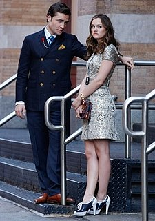 Photo of Blair Waldorf on Gossip Girl Season Three Premiere in Brocade Dress