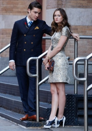 Photo of Blair Waldorf on Gossip Girl Season Three Premiere in Brocade Dress 2009-09-15 17:00:08