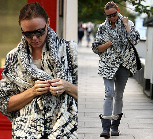 Photo of Stella McCartney in Zebra Print Cardigan in London 2009-09-29 11:00:22