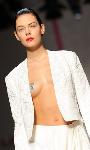 Heart Nipple Pasties at Lindsay Lohan's Emanuel Ungaro Spring Collection 2009-10-05 04:50:22