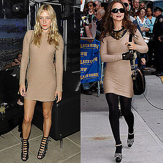 Chloe Sevigny and Eliza Dushku Wear The Same Nude Kimberly Ovitz Dress