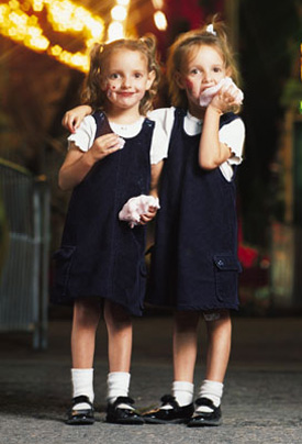 Separate Twins in School