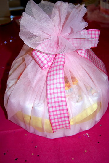 The Mini Diaper Cake for Sister