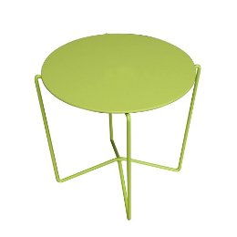 The KD Wire Accent Table ($19.99) has charming modern legs and a chirpy color — great indoors or out. Its price is also laughably friendly.
