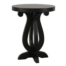 In sleek black, the Symphony Side Table ($179) has great curves — like a clef sign. It's oh-so Brocade Home.