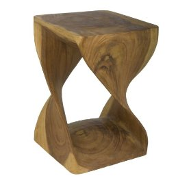"The Rectangle Screw Stool ($119) is ""organic modern"" to a T."