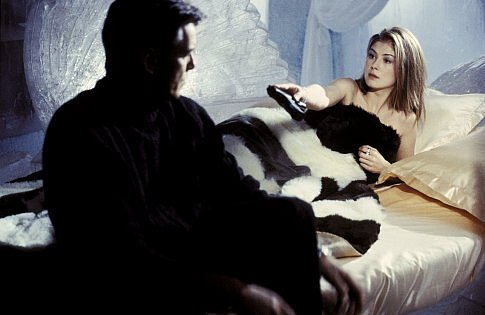 Fur throws seem to be a timeless Bond film element. Source