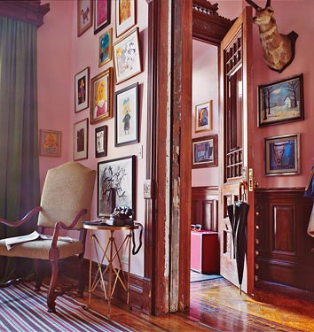 Give pink a chance in your home. This shot, from Domino, proves that pink can work perfectly in any house. Source