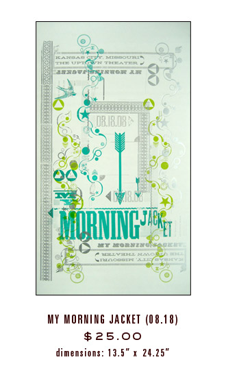 Start your own wall of music-related art with this silkscreened Hammerpress My Morning Jacket Poster ($25). Just make sure to mat and frame it to keep it looking its best.