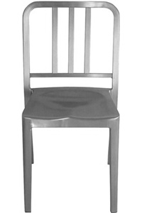 The Emeco Navy Chair ($415-1,215) is a metallic update on the chairs seen in the movie.