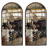 Fake the look of a grand dining hall with these Iron Window Frames With Mirrored Panels. ($12,000)
