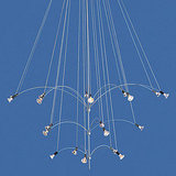 The Starburst 20 Chandelier ($1,308), if repeated enough times, could come close to the floating candlestick effect.
