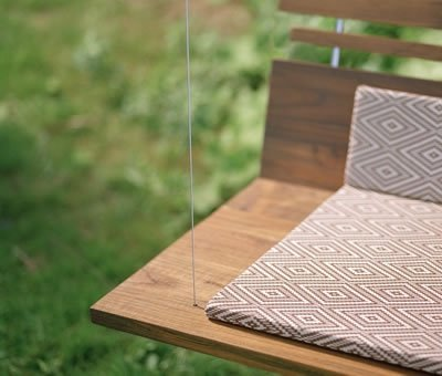 The Woodia la Piccolo Modern Porch Swing would look amazing on the ...