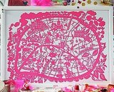 Painstakingly drawing and cutting this Paris papercut map was a labor of love for designer Famille Summerbelle. Get your print at Bodie & Fou for $73. Is London where your heart is? She also made a beautiful papercut map for you Londoners.