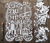 "Want something extra special? Artist Julene Harrison will make a custom papercut for you and your city, like this San Francisco ""This Must Be the Place"" cut, for $300. This piece is bespoke, but she plans to create a city/state series in the future."