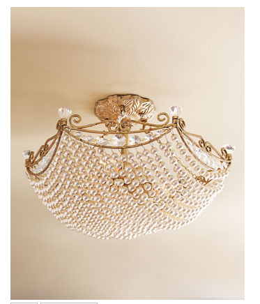 With this Beaded Ceiling Fixture ($319.90), you can add some jewelry to your ceiling.