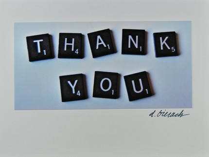 Did someone let you win your last game? Then recognize their kindness with this Scrabble Thank You note ($2.20).