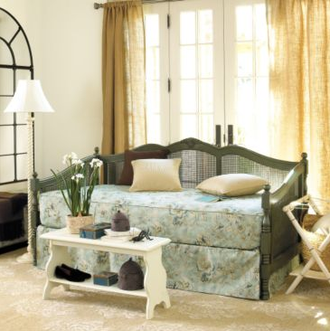 I adore this Cane Daybed With Trundle ($799). It's a great color, and has a fun, British-colonial feel.