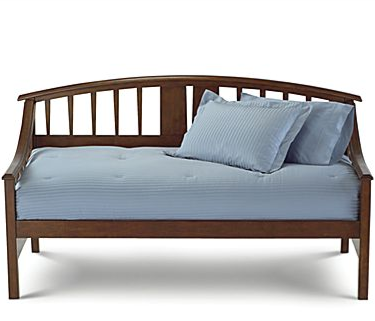 The Asher Daybed ($399) is on super sale right now at JCPenney. Its charming shape is subtle enough to adapt to any crazy textiles you want to layer it with.