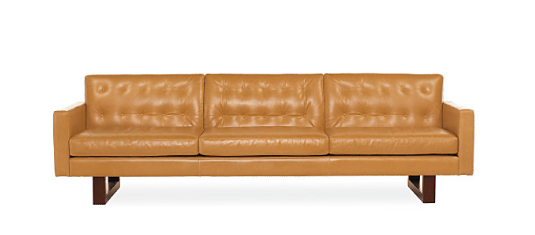 A close match to the movie's sofa is the Wells Leather Sofa ($3,299) would look chic in any modern home.