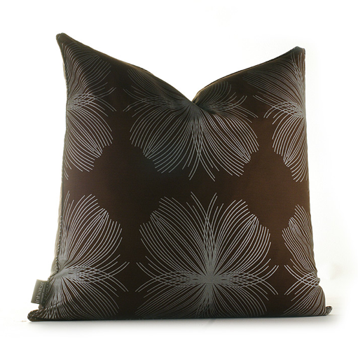 Pile pillows in your reading nook and make sure they're organic, like this  Aequorea in Chocolate and Silver Organic Pillow ($60).