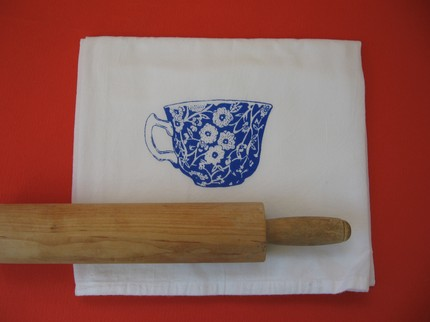 Match your china to your tea towels with the Heated Teacup Tea Towel ($11)
