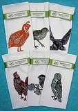 ThisSix Pack of Hand Printed Birds Tea Towel Set ($84) will have all of your fowl needs covered.