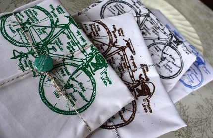 Love to cycle? Celebrate with thisAmazing Bicycle Awesomeness Tea Towel Set ($20).