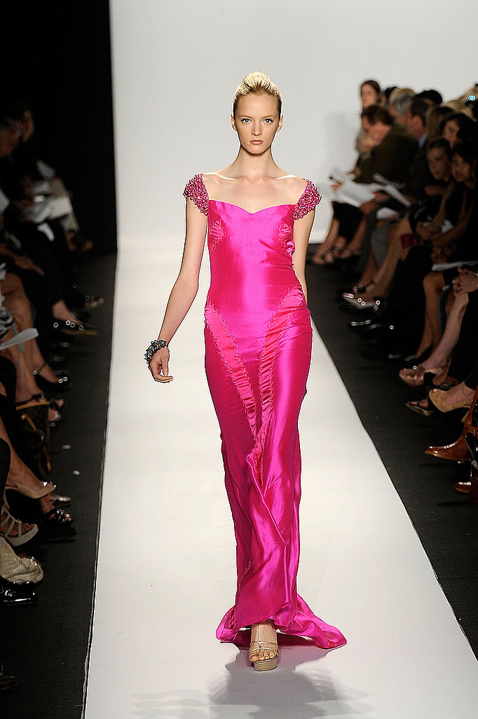 Hot pink isn't just for little girls. This long silk number proves that the color can be completely captivating.