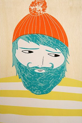 I'm a big fan of artist Ashley Goldberg's whimsical portraits. If I were you, I'd snap up this Woodsman Wall Art by Ashley G. and Drew (on sale for $14.99, was $24).