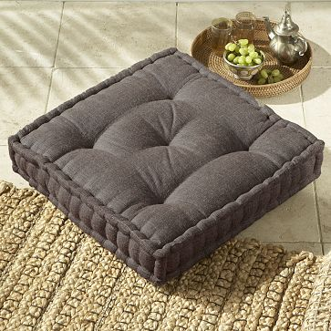 Use the Square Tufted Jute Floor Cushion ($49.99) for extra guests.