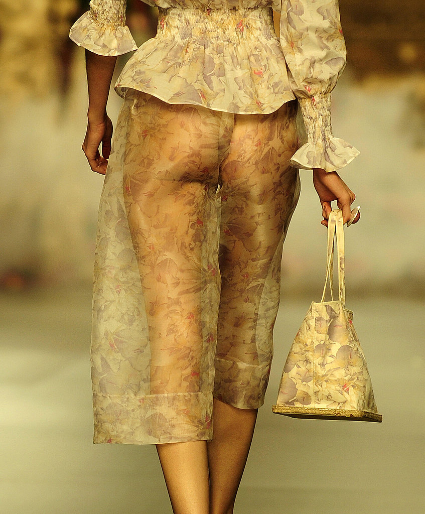 These sheer floral pants are quite provocative but still manage to pull off an air of elegance.