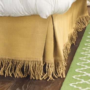 Get the look with the Ballard Designs Fringed Burlap Bedskirt ($45-$59).