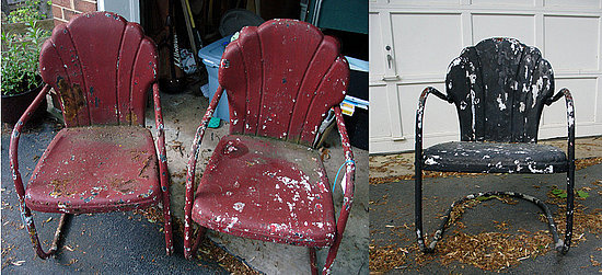 All these 1950s-era lawn chairs belonging to Su Casa member NdChristine needed was some sanding, priming, and painting to get them back into tip-top shape.