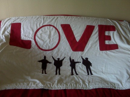 This Beatles Blanket ($200)  features the classic silhouettes from the HELP! album.