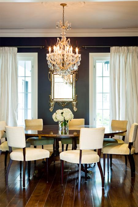 This room proves that black walls can look elegant and classically inspired.  Source
