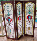 This Three Panel Room Divider ($1800) is rocking a Frank Lloyd Wright feel, and would be a stunning investment for your home.