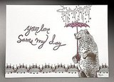Bear? Umbrella? Cursive? Could this Someone Dear Print ($16) get any cuter?